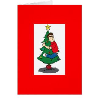 hugger da árvore cartão comemorativo