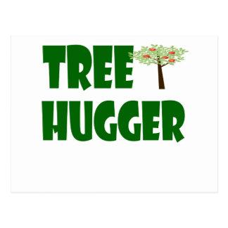 hugger da árvore cartão postal