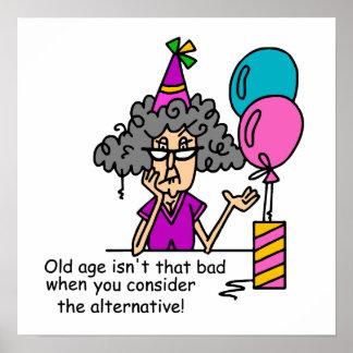 Humor do alternativo do aniversário pôster