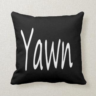 Humor do bocejo travesseiros de decoração