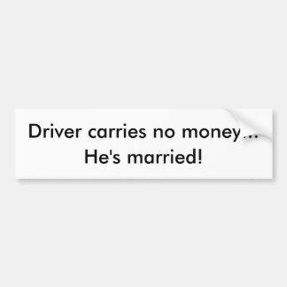 humor do casamento adesivo para carro