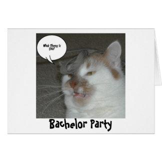 Humor do despedida de solteiro cartão comemorativo
