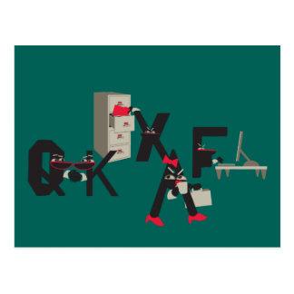 Humor do escritório do cultura Pop do SciFi Cartão Postal