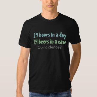 Humor engraçado do bebendo da cerveja camisetas