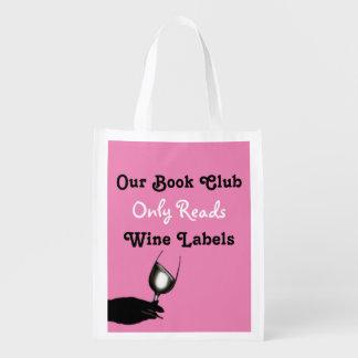 Humor engraçado   do clube de leitura sacolas reusáveis