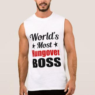 Humor Hungover do bebendo do chefe Camisa Sem Mangas