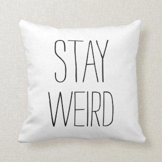 Humor na moda moderno branco preto estranho da est travesseiro
