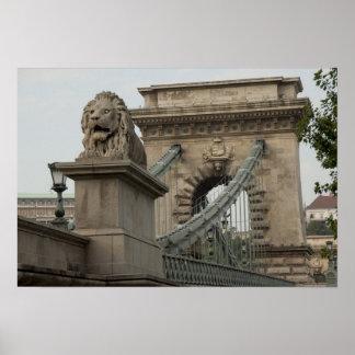Hungria, capital de Budapest. 2 históricos Impressão