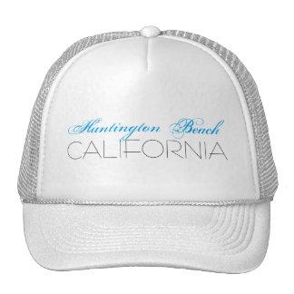 Huntington Beach, CALIFÓRNIA azul e preta Boné