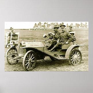 Huppmobile militar 1910 poster