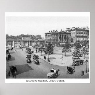 Hyde Park, Londres, 1900's Inglaterra Poster