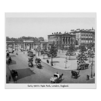 Hyde Park, Londres, poster de 1900's Inglaterra
