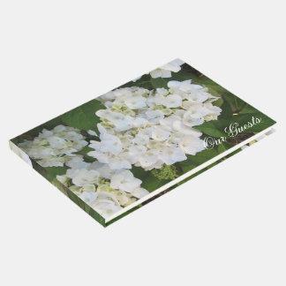 Hydrangeas brancos bonitos livro de visitas
