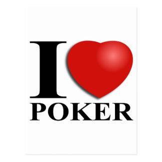 I Love Poker Cartão Postal