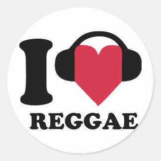 I LOVE REGGAE ADESIVO