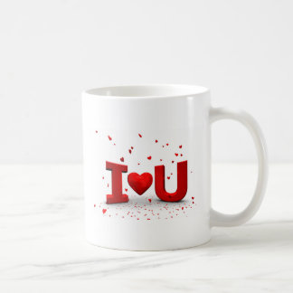 I love you caneca de café