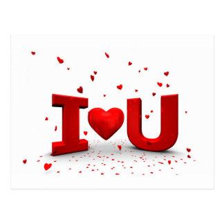 I love you cartão postal