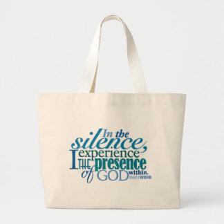 """<i>Word® diário</i> A bolsa de canvas do """"silêncio"""