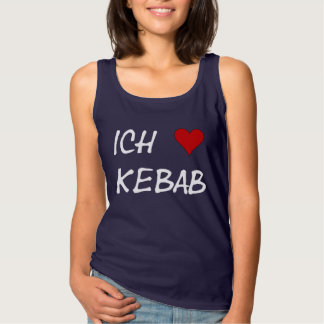 Ich Liebe Kebab eu amo o alemão de Deutsche do Regata Basic