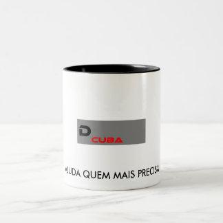 ícone, AJUDA QUEM MAIS PRECISA Caneca De Café Em Dois Tons