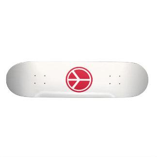 Ícone da paz shape de skate 20,6cm