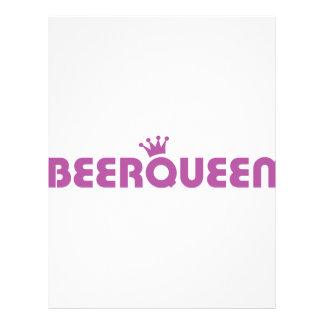 ícone da rainha da cerveja modelo de panfleto