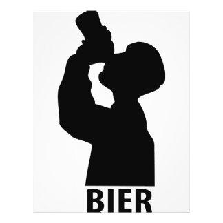 ícone do bier panfleto personalizados