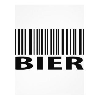 Ícone do código de barras do Bier Panfleto Personalizado