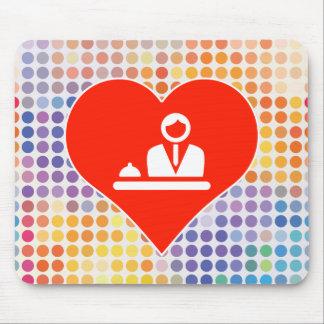 Ícone do recepcionista mouse pad