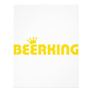 ícone do rei da cerveja panfleto coloridos