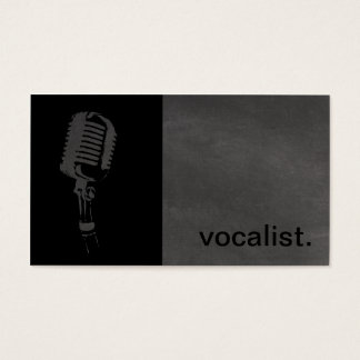 Ícone moderno do quadro - preto/cinza do vocalista cartão de visitas