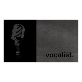 Ícone moderno do quadro - preto/cinza do vocalista cartão de visita