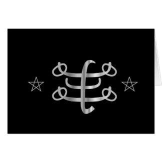Ícone religioso de Bahai do símbolo de Ringstone Cartão