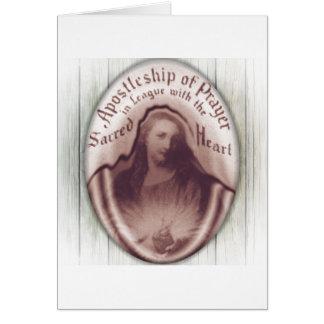 Ícone sagrado da chapa da parede de suspensão do cartão