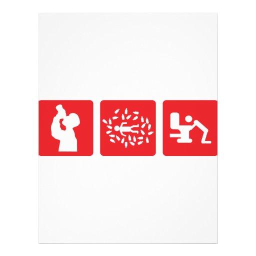 ícone vermelho da imagem do álcool panfletos personalizado