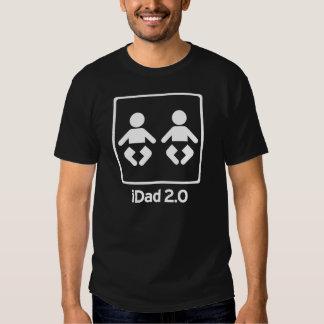 iDad/novo papai 2,0 iDaddy dos GÊMEOS T-shirt