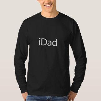 iDad (pai) de i - camisa longa preta da luva para Tshirt