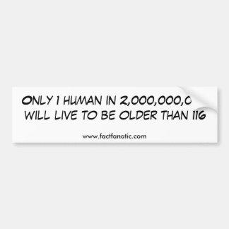 Idade humana adesivo para carro