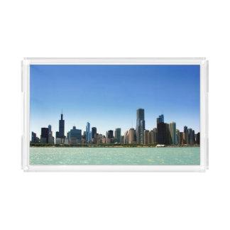 Ideia da skyline de Chicago pelo Lago Michigan