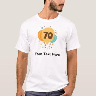 ideia do presente da festa de aniversário do 70 t-shirt
