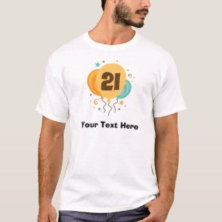 Ideia do presente do partido de aniversário de 21 camiseta