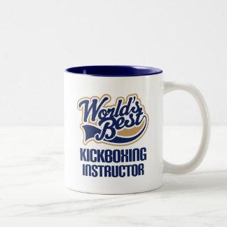 Ideia do presente para o instrutor de Kickboxing Caneca De Café Em Dois Tons