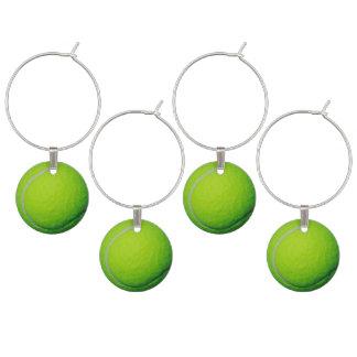 Ideias adultas do partido do tema da bola de tênis identificador de taças
