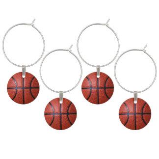Ideias adultas do partido do tema do basquetebol enfeite de taças de vinho