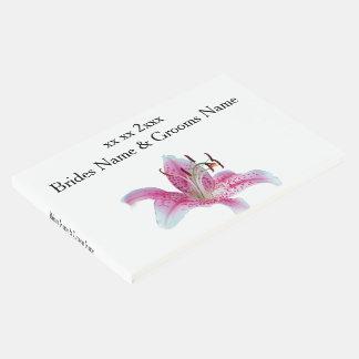 Ideias elegantes simples modernas do casamento do livro de visitas