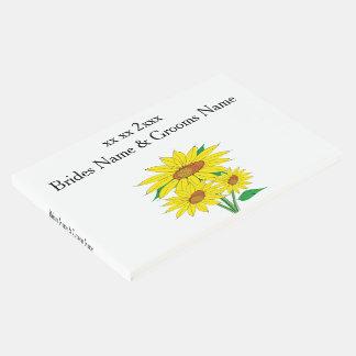 Ideias elegantes simples modernas do casamento dos livro de visitas