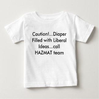 ideias liberais camiseta para bebê