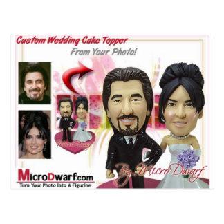 Ideias personalizadas dos presentes de casamento cartão postal