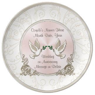 Ideias personalizadas originais lindos do presente prato de porcelana