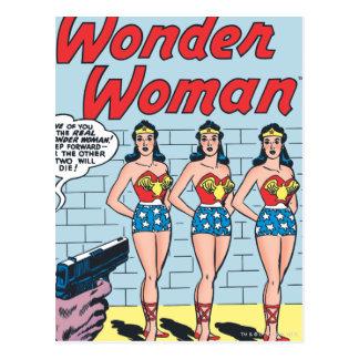 Identidade tripla da mulher maravilha cartão postal